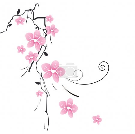 Illustration for Beautiful background with flower - Royalty Free Image