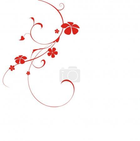 Illustration pour Beau fond avec fleur - image libre de droit