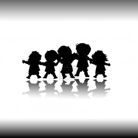 Photo for Kids playing; group of happy children - Royalty Free Image