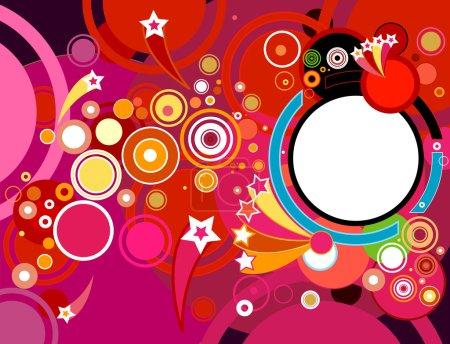 Foto de Fondo abstracto fiesta con círculos - Imagen libre de derechos
