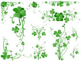 Three leaves clover design elements