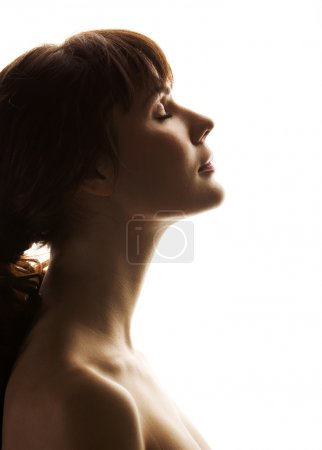 Photo for Portrait of a beautiful girl. Profile - Royalty Free Image