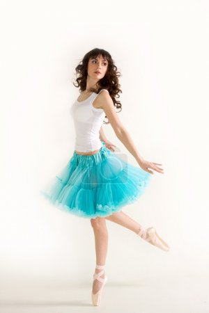 Photo for Young beautiful ballerina dances - Royalty Free Image