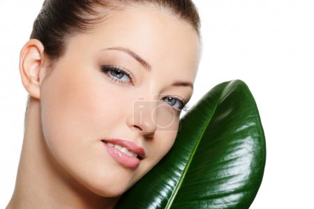 Beauty clear woman face