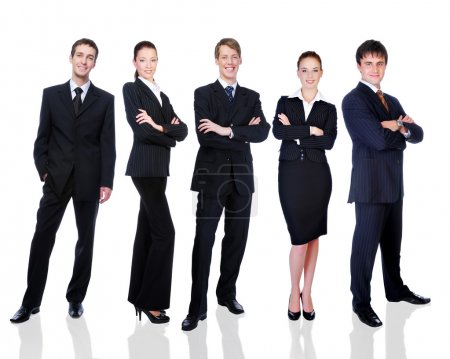 Group of successful business