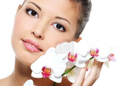 Asian beauty girl with flower