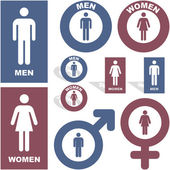 Men and women icons Graphic elements set