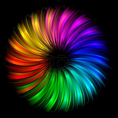 Rainbow abstract element