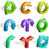 A vector set of useful arrows Vector great collection