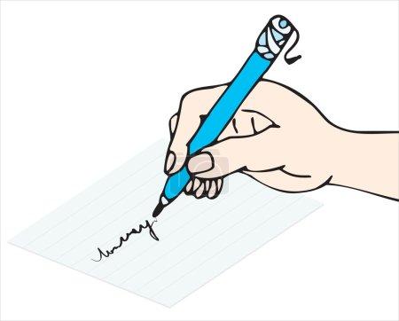Illustration pour Écrire à la main - image libre de droit