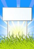 Billboard on sun nature background
