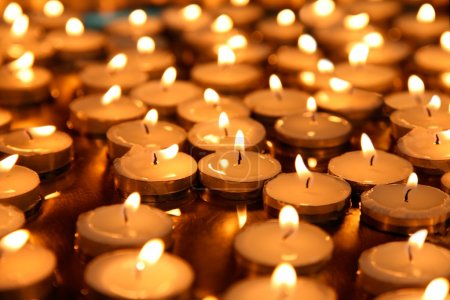 Photo for Lot of burning candles - Royalty Free Image