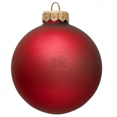 Photo for Red christmas ornament . Isolated over white.. - Royalty Free Image