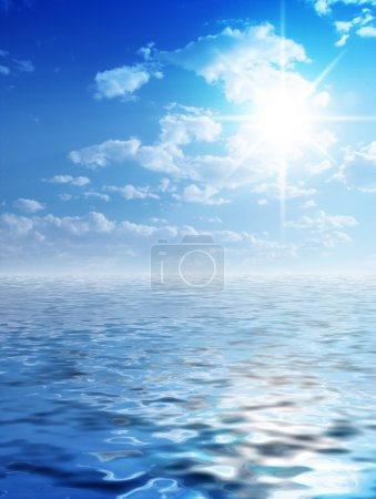 Sunny background and water