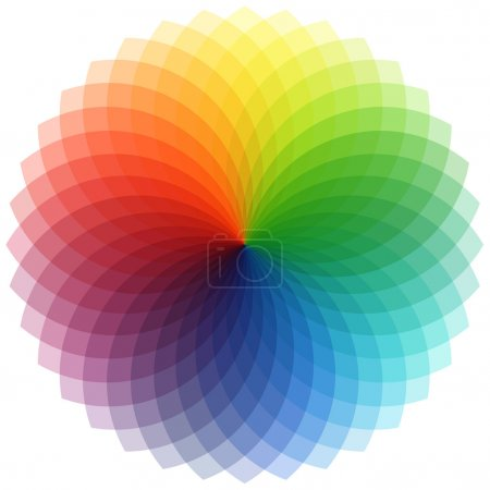 Beautiful spectral flower made of colorful shapes...