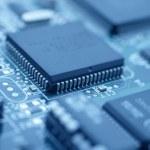 Futuristic technology - Cool blue image of a compu...