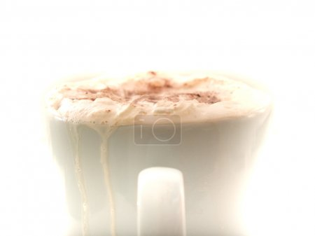 Light bright image of a hot chocolate