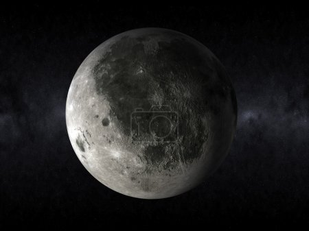 3d rendering of a full moon