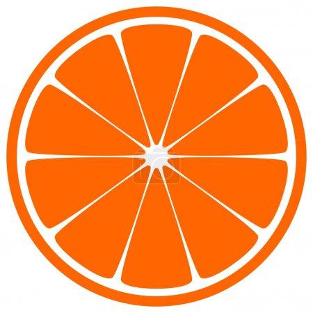 Illustration for Juicy orange slice over white background - Royalty Free Image