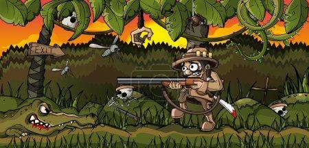 Hunter in the jungle