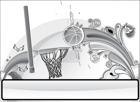 Basketball banner gray