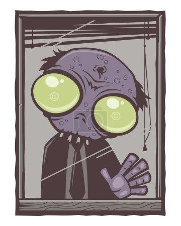 Office Zombie Cartoon