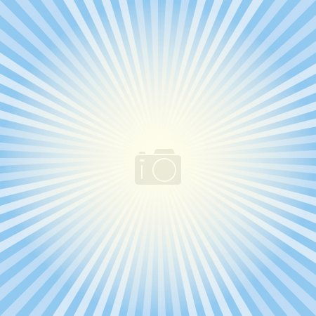 Illustration for Blue radiant background. Abstract design. - Royalty Free Image