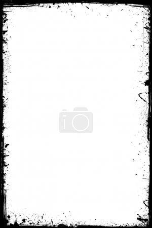 Illustration for Black grunge frame isolated on the white background - Royalty Free Image