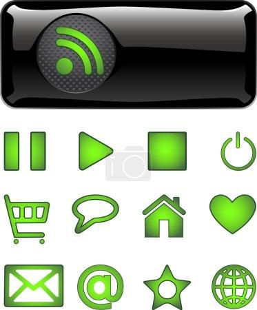 Ilustración de Botones de diseño web. Vector - Imagen libre de derechos