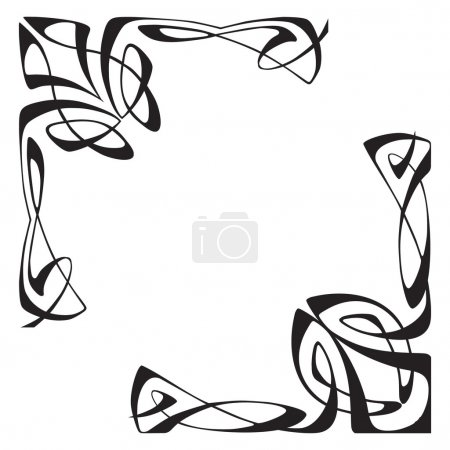 Illustration for Vectorial image of two corners - Royalty Free Image