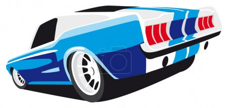 Illustration for Vectorial image of blue muscle car - Royalty Free Image