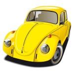 Постер, плакат: Old fashioned yellow car