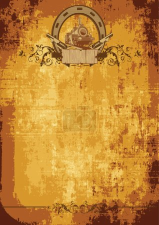 Illustration for Vintage background on a theme a wild west - Royalty Free Image