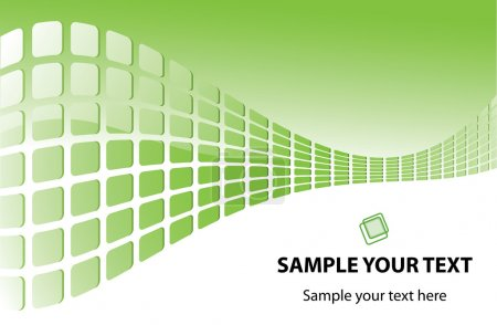 Illustration for Vector green background for your text - Royalty Free Image