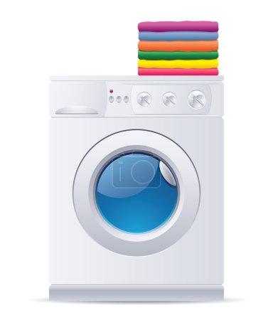 Illustration pour Illustration vectorielle réaliste de la machine à laver - image libre de droit