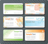 Collection of 6 different horizontal business cards templates