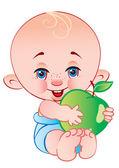 Dítě s jablkem