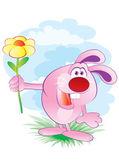 Zajíc s květinou