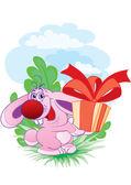 Zajíc s dárkem