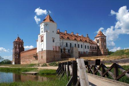 Photo pour Vue du château de Mir, Biélorussie - image libre de droit