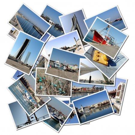 Photo pour Cartes postales du Port de Valence en Espagne - image libre de droit