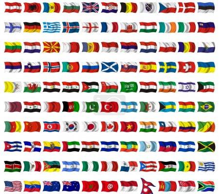 Photo pour Collection de drapeaux du monde entier - image libre de droit