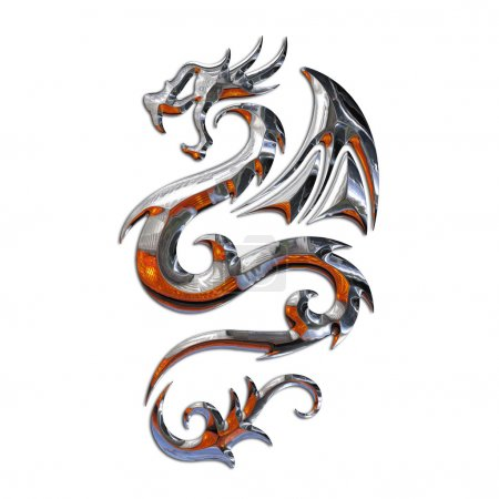 Photo for Illustration of a mythical dragon - Royalty Free Image