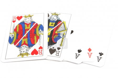 Poker Cards - Fullhouse Aces over Kings