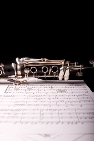 Detail of a clarinet