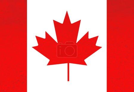 Photo pour Canada rouge et blanc drapeau illustration, générées par ordinateur - image libre de droit