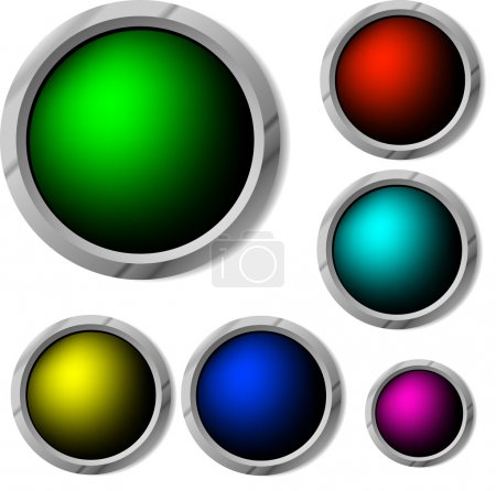 Raster. glossy buttons