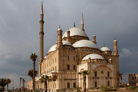 Saladin Citadel of Cairo, Egypt, under overcast sk...