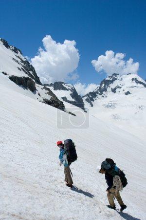 Couple of mountain tourist