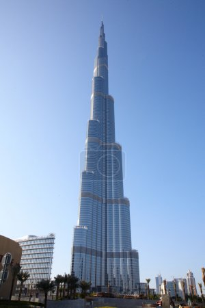 Photo for Burj Dubai skyscraper - one of the tallest building in the world - Royalty Free Image
